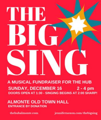 Sing songs, support The Hub — December 16