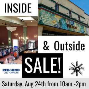 Inside Out Sale - Saturday, August 24